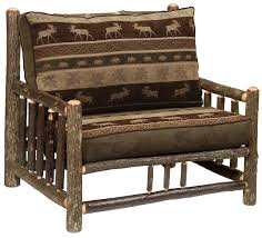 Sale Armchair Ottoman Splendid Hickory Chair Half And With Ottoman Log Frame