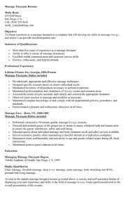 massage therapist resume examples resume example and free resume