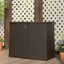 suncast elements outdoor wicker cabinet hayneedle