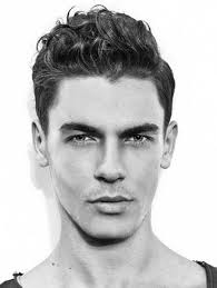hairstyles for men with square heads short curly hairstyles men
