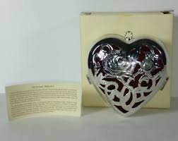 lenox giving box ornament wedding promises silver plated ebay