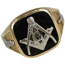 1950s onyx gold masonic ring square and compass for sale at 1stdibs