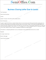 Closing For Cover Letter Office Closing Reason For Business Loss Letter Format