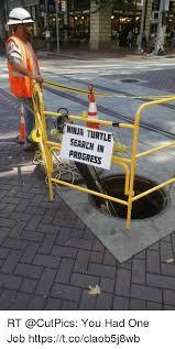 You Had One Job Meme - ninja turtle search in progress rt you had one job