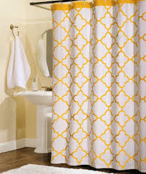 white and yellow shower curtain madison park saratoga shower