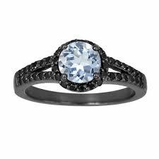 black gold sapphire engagement rings fancy black engagement ring vintage style 14k black gold