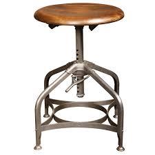 toledo backless stool mid century modern adjustable vintage