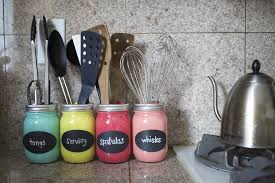 Colorful Kitchen Canisters by Diy Mason Jar Organizer Popsugar Smart Living