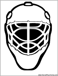 8 images of hockey mask coloring pages hockey goalie mask