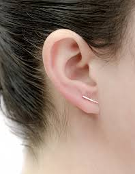 gold bar stud earrings gold ear bar stud earrings shiny gold bar post earrings