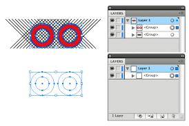 tutorial illustrator layers adobe illustrator clipping masking across multiple objects tiny