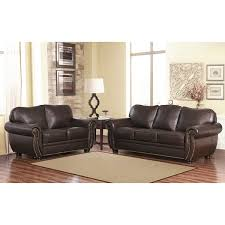 Abbyson Leather Sofa Reviews Abbyson Richfield Top Grain Leather 2 Living Room Set Free