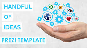handful of ideas prezi template youtube