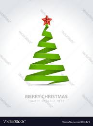 ribbon christmas tree christmas tree from paper ribbon royalty free vector image