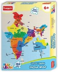 United States Map Puzzle by Funskool India Map Puzzles Learning Game India Map Puzzles