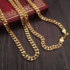 gold plated curb necklace images 29quot 18k franco curb cuban link necklace gold plated chain jpg