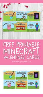 minecraft valentines cards the best free printable minecraft valentines for boys