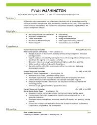 Resume Of Hr Recruiter Best Recruiting And Employment Resume Example Livecareer