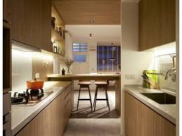 Apartment Galley Kitchen Hdb Black Sink White Cabinets Scandinavian Faucet Interior Timber