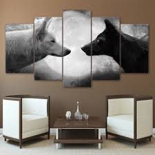 online get cheap poster wolf black and white aliexpress com