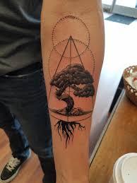 bonsai tree by duke at art u0026 soul tattoo middleton wi imgur