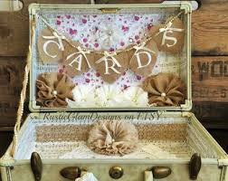 Shabby Chic Wedding Gifts by Vintage Suitcase Wedding Card Holder Rustic Wedding Gift Table