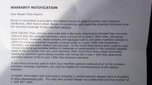 nissan sentra catalytic converter recall exhaust manifold u0027s true warranty nissan titan forum