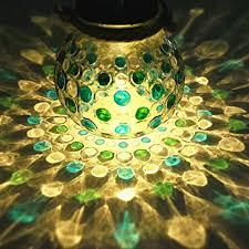 indoor solar lights amazon sogrand blue green solar glass jar solar lights o https
