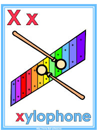 letter x xylophone theme lesson plan printable activities poster