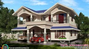 Low Budget Modern 3 Bedroom House Design 2100 Sq Ft Typical Kerala Sloping Roof Kerala Home Design