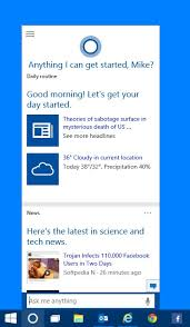 cortana take me to my facebook page new and improved features in windows 10 cortana microsoft mvp