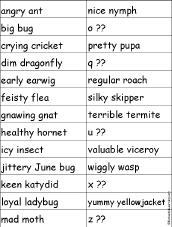 adjectives vocabulary word list enchantedlearning com