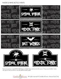 halloween wine bottle labels venom and potions free halloween party printables catch my party