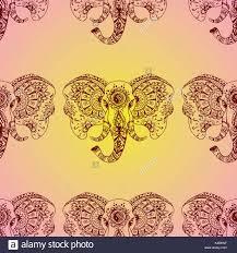 Musterk Hen Indische Muster Elefant Vorlagen Excellent Vektor Nahtlose Muster