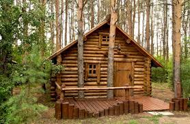 wooden house in the woods stock photo colourbox