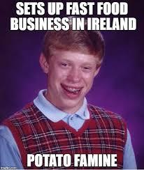 Food St Memes - bad luck brian meme imgflip
