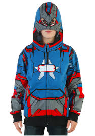 Iron Patriot Halloween Costume Youth Iron Patriot Costume Hoodie