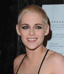 kristen stewart shaves all her blonde hair off and looks almost