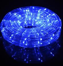 blue led outdoor string rope light 33ft clear on