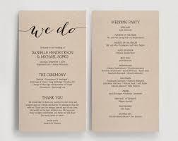 printable wedding program wedding programs diy kylaza nardi