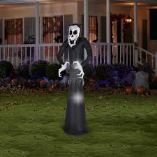 7 u0027 airblown inflatable welcome reaper by gemmy american sale