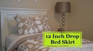 Detachable Bed Skirts 12 Inch Drop Bedskirt Linens U0027n U0027curtains