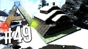 ark survival evolved snow base build snow biome base ep 49