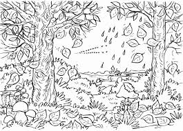 coloring pages trees autumn coloring page for kids kids