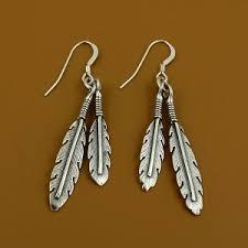 feather earrings silver feather earrings