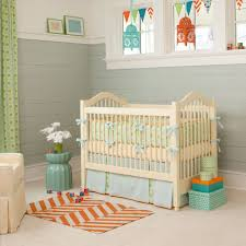 Nursery Decoration Sets Neutral Baby Bedding Set In Color Plus Pastel Blue Skirt And