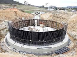 Pedestal Foundation The Pedestal Ring Wall Under Construction Nasa