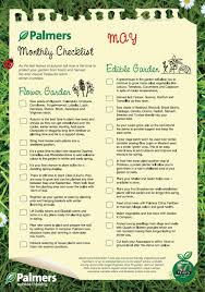 monthly checklist for your garden may adjust for the states