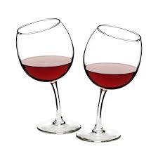 tipsy wine glasses funny glass goblets uncommongoods