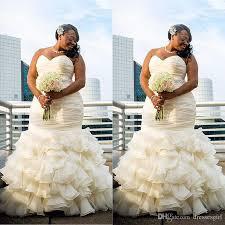 wedding dresses for plus size women 2017 plus size mermaid wedding dresses ruched draped robe de